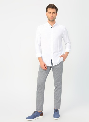 Fabrika Fabrika Beyaz Erkek Gömlek Beyaz